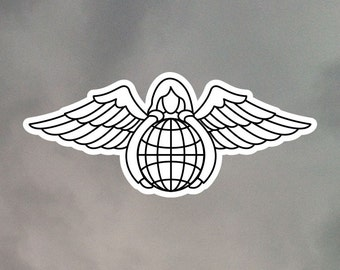 Pararescue Angel Stickers V2  - Eight 2 Inch Stickers - Weatherproof Vinyl with Laminate Overlay 2-0229