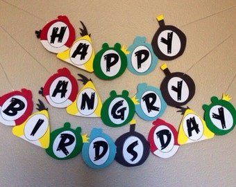 Angry Birds Birthday Banner - Angry Birds Party Banner