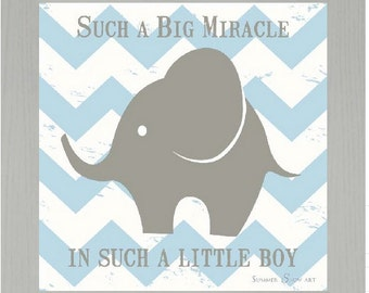 """Such A Big Miracle In Such A Little Boy Framed Picture 12x12"""""""
