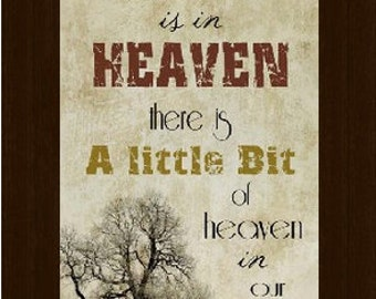 """Because Someone's In Heaven Beige Black Framed Picture 10x16"""""""