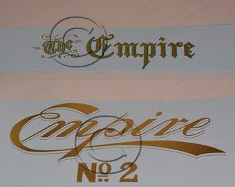 Empire 1 or 2  Typewriter Water Slide Decal