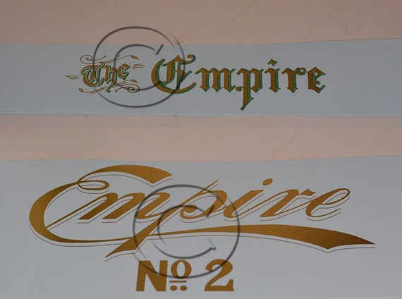 Empire 1 or 2  Typewriter Water Slide Decal