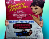 Breakfast At Tiffany Audry Hepburn - Cushion / Pillow Cover / Panel / Fabric