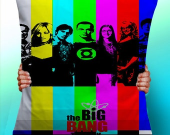 Big Bang Theory Cast - Cushion / Pillow Cover / Panel / Fabric
