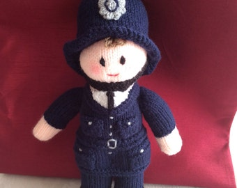 Knitted Policeman