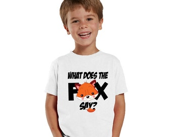 What does the fox Say? funny kids shirt of baby bodysuit
