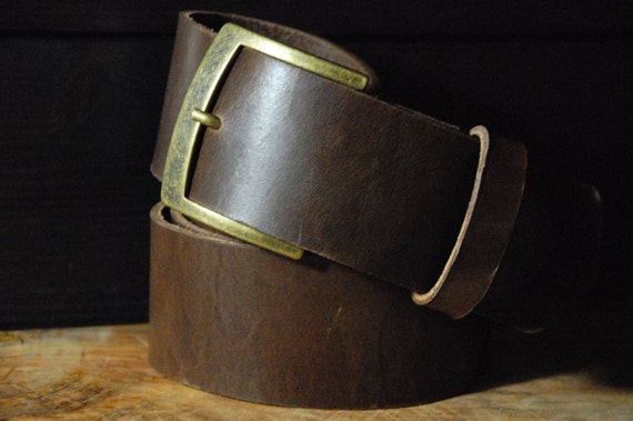 leather belt 2 inch hip wide leather belt brown by