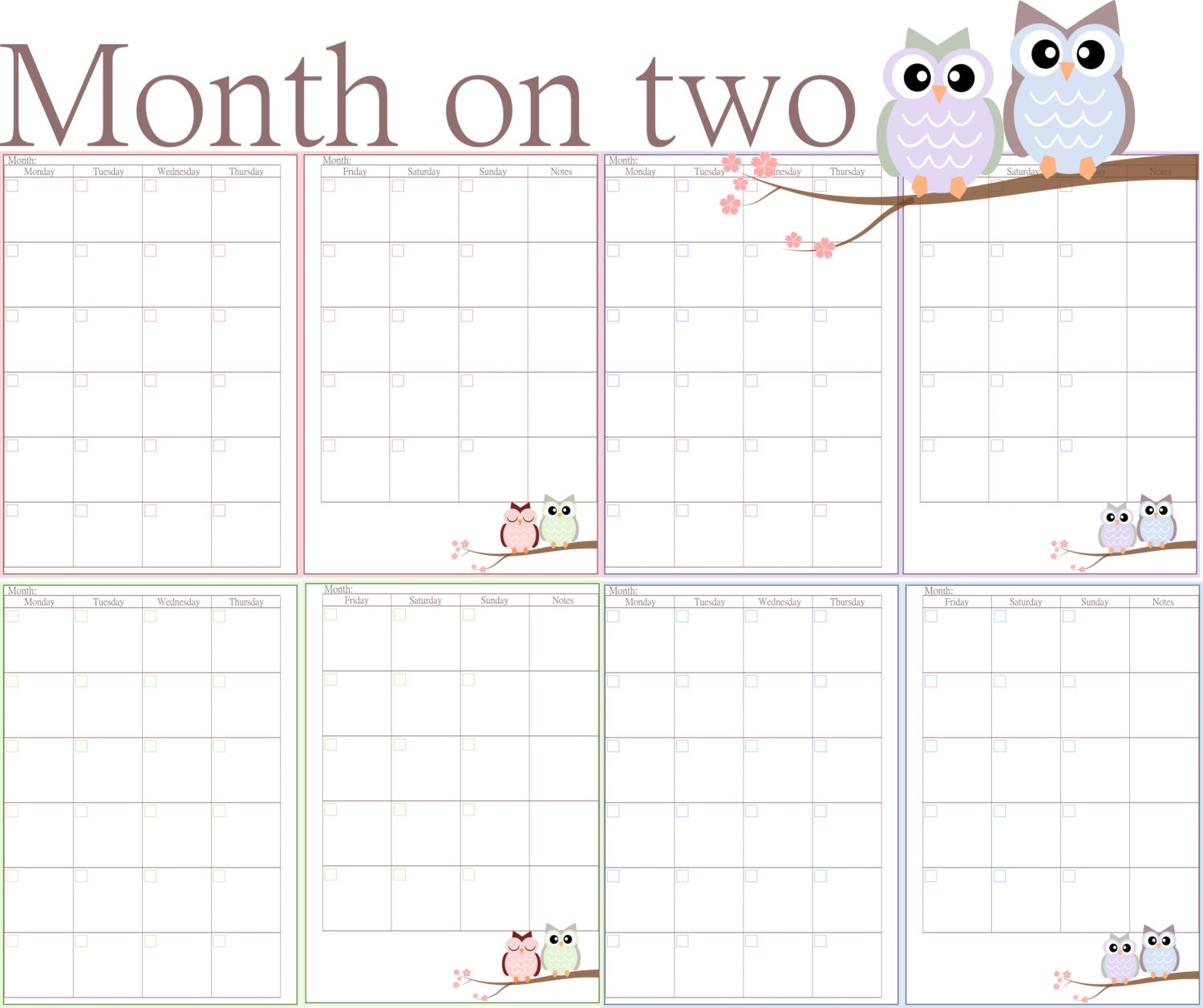 2016 Free Printable Calendar 4 Months Per Page | Calendar Template ...
