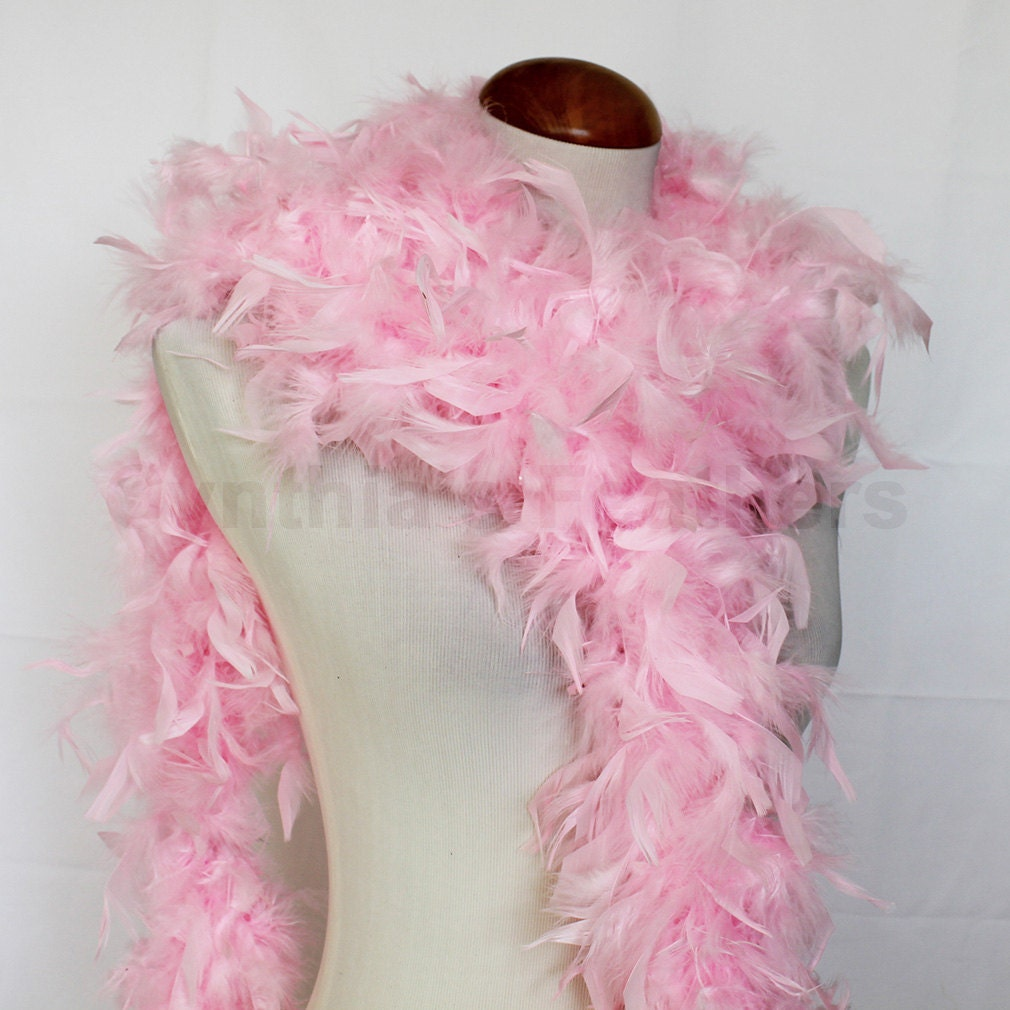 Baby Pink 65 Grams Chandelle Feather Boa 6 Feet Long Dancing