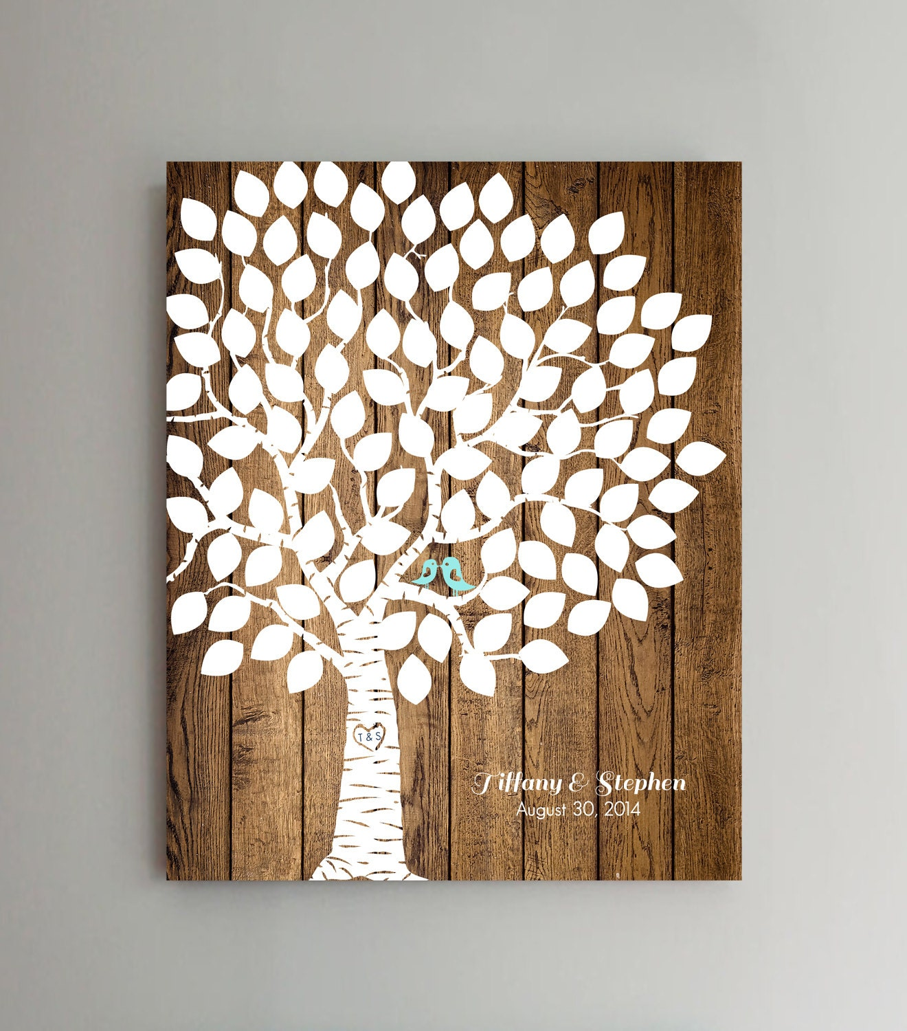100 Guest Wedding Guest Book Wood Wedding Tree Wedding