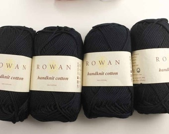 Rowan Handknit Cotton color Black 252, cotton knitting yarn