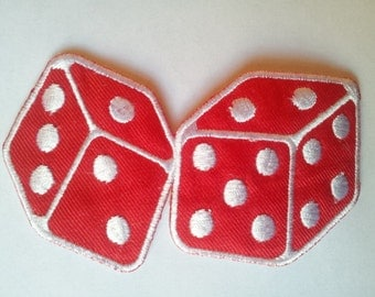 Roll a Dice Gamble applique iron on patch