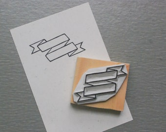 Label Stamp(leaving blank to write) handcarved stamp. rubber stamp. mounted.