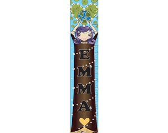 Personalized Earth Girl Growth Chart