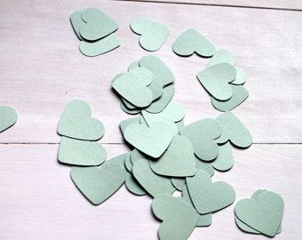 Heart Confetti- Mint Green Heart Confetti- Set of 100