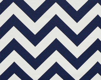 """Premier Print  Zig Zag Chevron navy or choose from 33 colors 54"""" wide Fabric By The Yard Fast Shipping decorator fabric"""