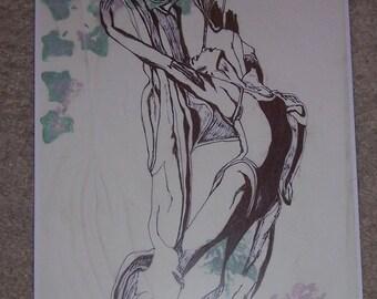 Art Print-Gypsy/Boho/Hipster Ballet Veil
