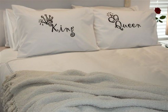 This item King and Queen Pillowcase Set- NEW RKGrace Prints King anf queen pillow cases, king and queen pillows for couples, king and queen pillowcases King and Queen Couples Pillow Cases,His Hers Pillowcases,Romantic Gifts,Funny Gift for Him, Gifts for Husband.