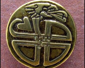 Celtic Dragon Button - B523