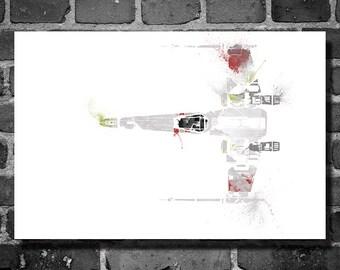 Star Wars vehicle movie poster minimalist poster star wars art X-Wing Fighter