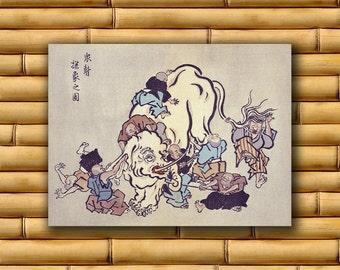 Chinese Art Asian Elephant Poster Art Print China Retro Decor (CH8)