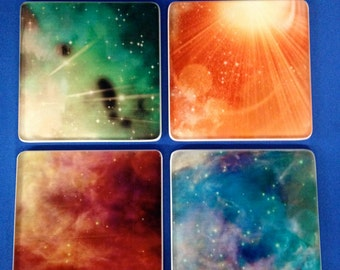 Galaxy Coasters_Set of 4 glass coasters