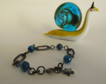 2284 - Bracelet Agate, Hematite