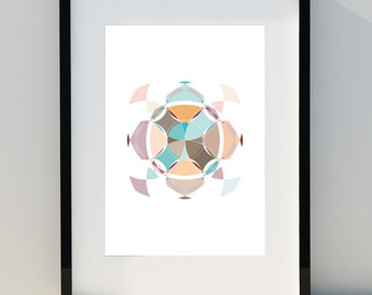 """Geometric poster """"Robotics effect III"""" Art for home, Poster, home, wall decor, Print Design, A2, A3 or A4"""