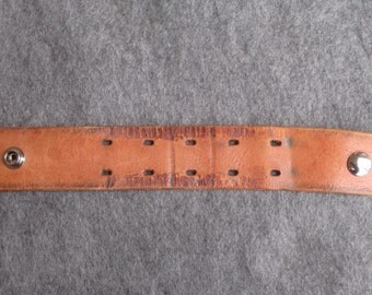 Brown Distressed Leather Wristband