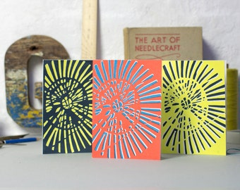 Summer House hand screen printed card