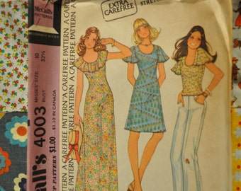 Vintage McCall's 4003  Dress or Top Pattern
