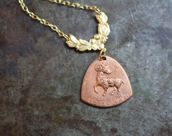 The Goat Capricorn Horoscope Zodiac Astrology Necklace