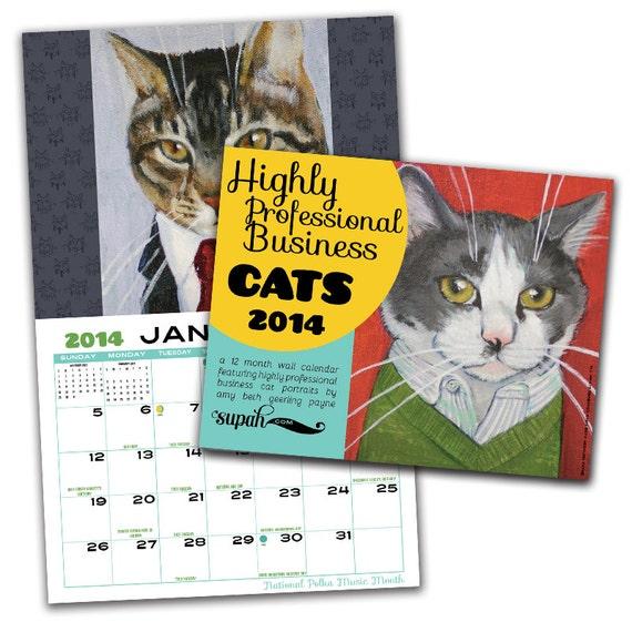 CLEARANCE: Business Cats Wall Calendar 2014