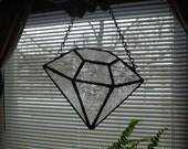 Diamond Bling Stained Glass Suncatcher