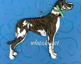 Custom Uncropped Great Dane Christmas Ornament