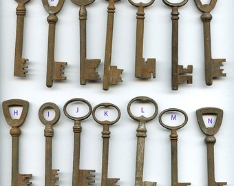 kEY from Paris (ONE) Choice FRANCE  Very Cool  Vintage Rusty altered arts assemblage French MORE AVAlLABLE  qz  Lot 1  Five Bucks