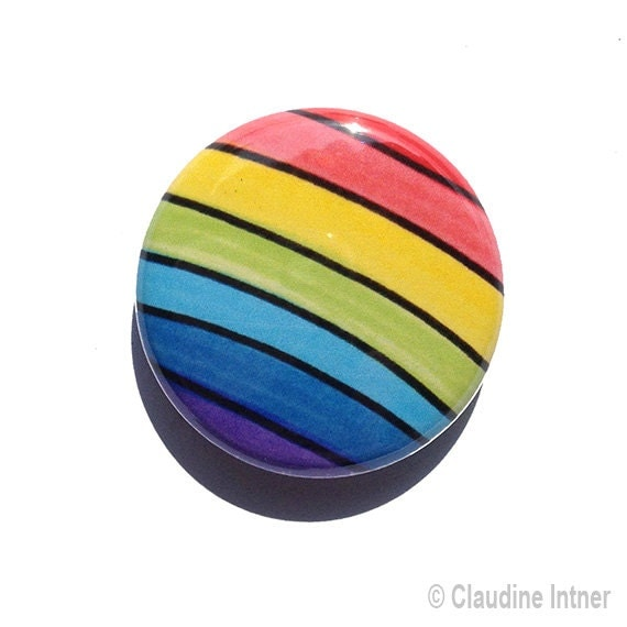 Rainbow Pin Or Rainbow Magnet Pin Or Pocket Mirror 1 Or 2