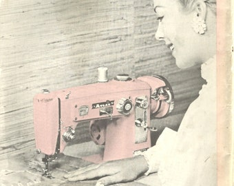 Pink Atlas Selectomatic Sewing Machine Instruction Manual Instant Download