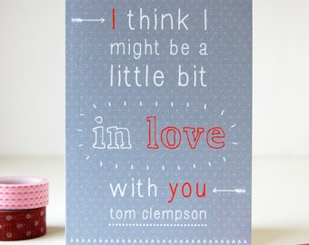 Little Bit In Love Personalised Valentine's Day Card - Anniversary Card - Valentines Card