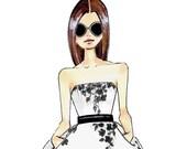 Fashion Illustration-Fashion Print-Fashion Sketch-Coqui-Fashion Art-Sandra-Fashion Illustrator- Brooke Hagel