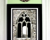 Abbey Arch Window Photo, Slane, Co. Meath, IRELAND, Celtic Cross, Church Ruins, GOTHIC Photography, Medieval Decor, Stone Cathedral Window