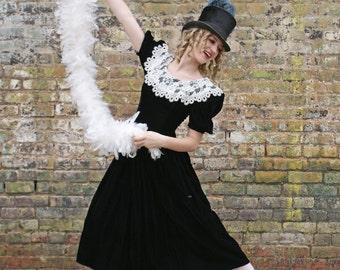 Sale Velvet Dress / Vintage Jessica McClintock Gunne Sax