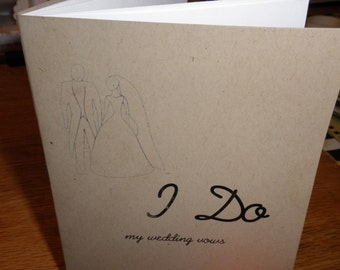 2 WEDDING VOWS BOOKLETS