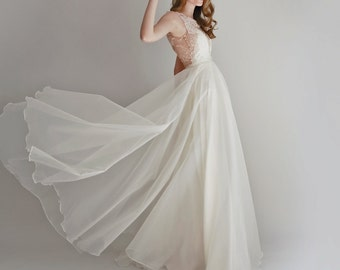 Lace and Organza Gown - Danielle