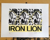 Iron Lion screen print edition of 20 (yellow)