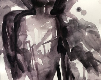 Angel 104 - Original Abstract Watercolor Painting by Kathy Morton Stanion EBSQ