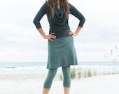 Organic Simplicity Short Skirted Cropped Leggings (hemp/organic cotton fleece)