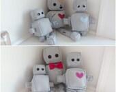 Plush Robot Family Pattern