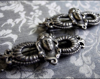 Original Antique Art Nouveau Pewter Hair Barrette could also be used for jewelry - Unused Old Stock - Several Available Priced Individually