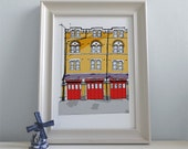 The Fire Station - Print / Wall Art / Illustration